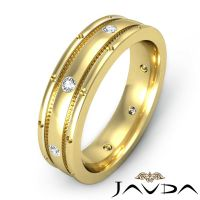 Matt Finish Solid Ring 18k Yellow Gold Diamond Mens ...