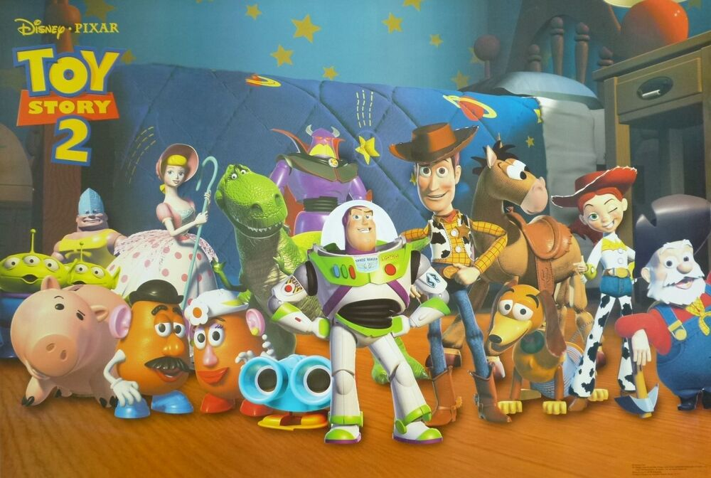 Disney Pixar Quottoy Story 2quot Poster Woody Buzz Standing
