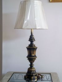 Large Heavy Antique Solid Lacquered Brass Heavy Trophy ...