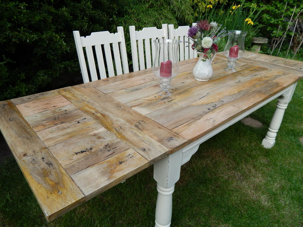Eichentisch Rustikal Large Shabby Chic Rustic Farmhouse Oak Kitchen Dining
