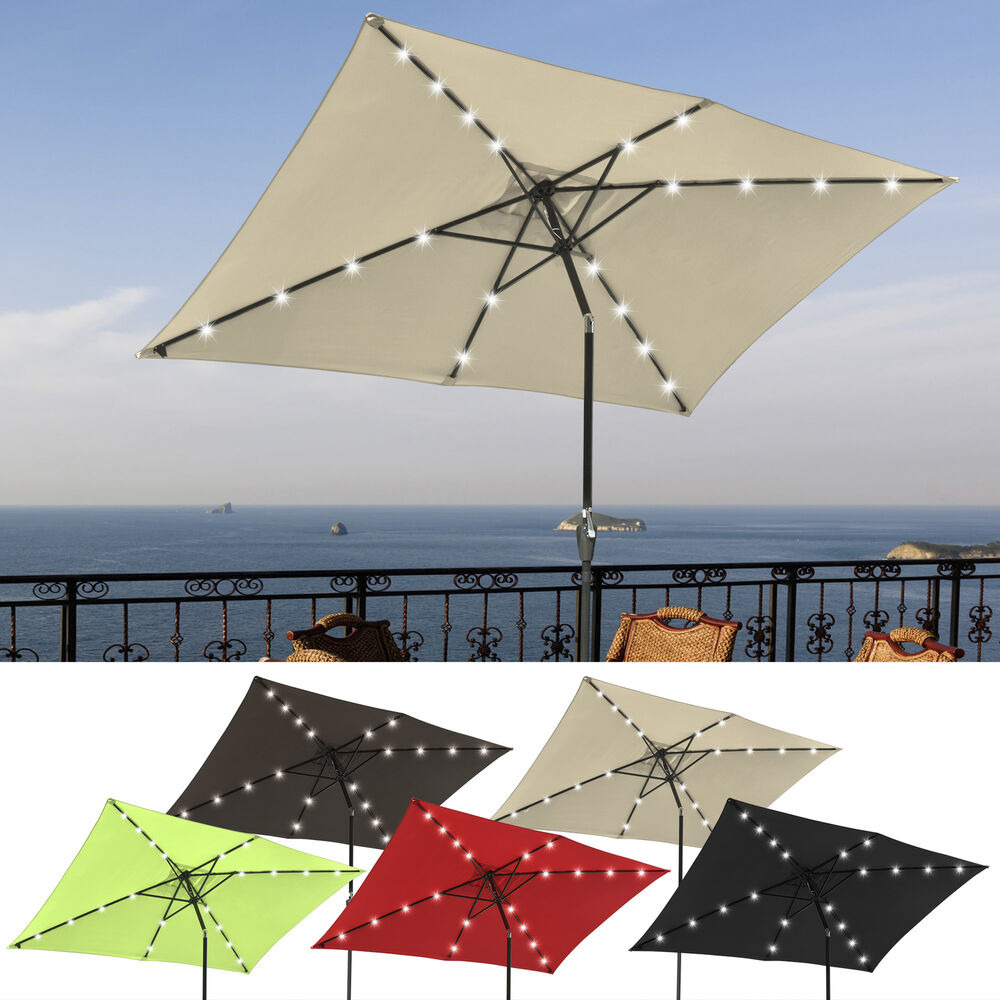 1039x6539 Patio Solar Umbrella Led Light Tilt Deck