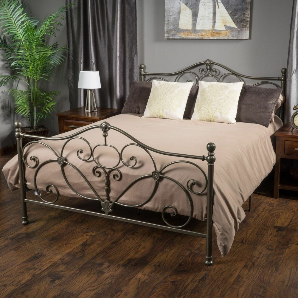 Denise Austin Home San Luis Queen Champagne Iron Bed Ebay