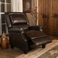 Contemporary Brown Bonded Leather Recliner Club Chair | eBay