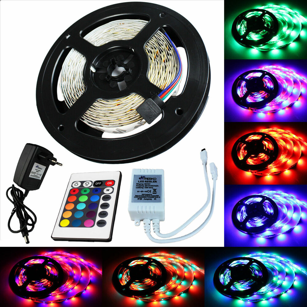 Led Lichterkette Fenster 5 M Rgb Led Strip Leiste Streifen Band Lichter Smd