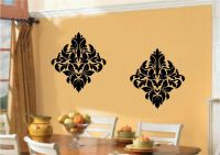 Damask Embellishments Vinyl Decal Wall Sticker Art Dining ...