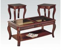 Acme Furniture 06152 Overture 3Pc Coffee and End Table Set ...