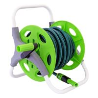 15m Complete Garden Hose Pipe Reel Set Reinforced Tough ...