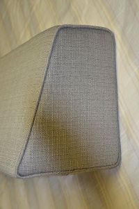 Daybed Wedge bolster cover only (Linen Grey) 5x9x12x36 ...