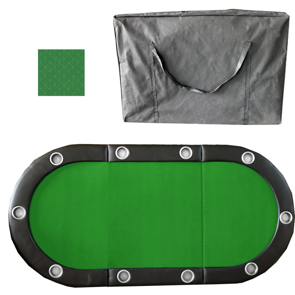 Green 84quot 10 Player Tri Fold Folding Poker Table Top Speed