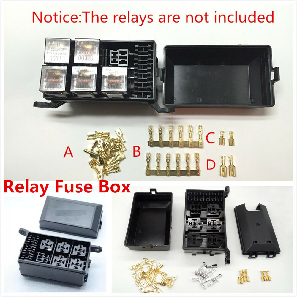 Car Fuse Relay Box Socket Fuse Relay Holder 6 Relay 5 Road - Wasserdichte Box