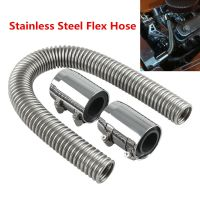 "New 24"" Chrome Stainless Steel Radiator Hose & Radiator ..."