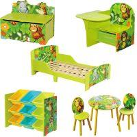 Kids Jungle Themed Wooden Furniture Boys Girls Toddlers ...