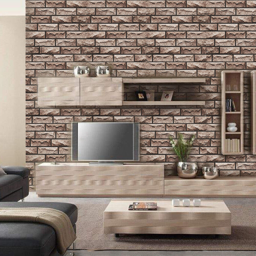Waterproef Restaurant 3d Wall Panel Waterproof Self Adhesive Wall Stick Stone Home Pub Restaurant Deco Ebay