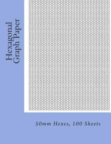 Hexagonal Graph Paper 50mm Hexes, 100 Sheets, Paperback by Fleury