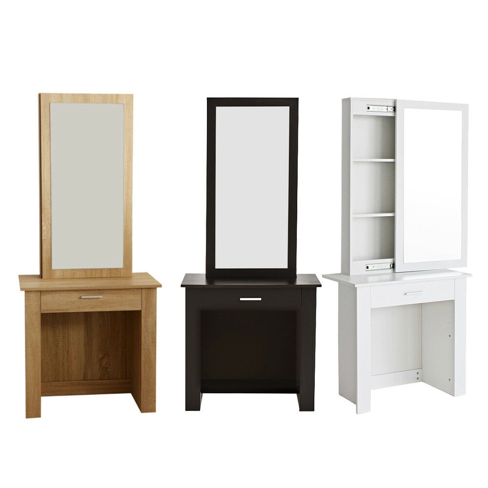 Wooden Make Up Table Dressing Table Modern Wooden Makeup Table Vanity Drawer With Sliding Mirror Ebay