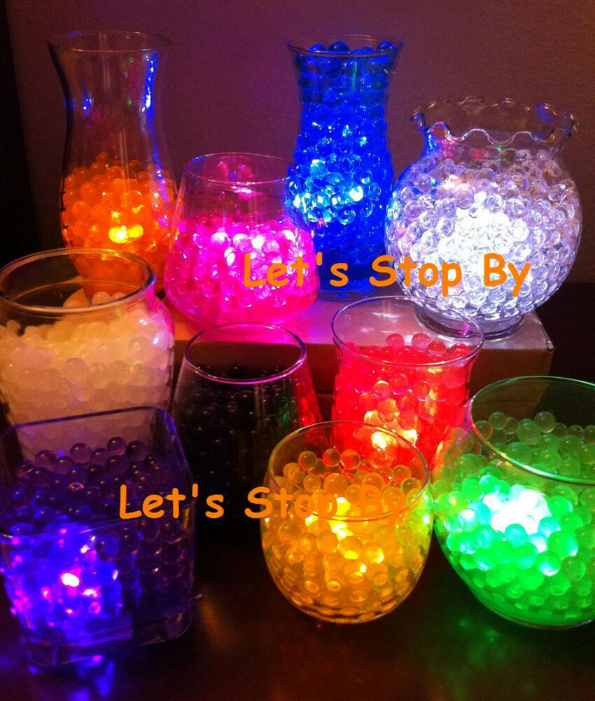 100g Water Pearl Bead 12 Led Submersible Wedding Table