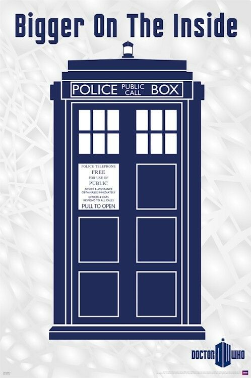Vincent Van Gogh Quotes Wallpaper Doctor Who Tardis Bigger On The Inside 24x36 Poster Dr