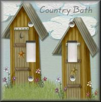 Light Switch Plate Cover - Country Bath - Outhouse ...