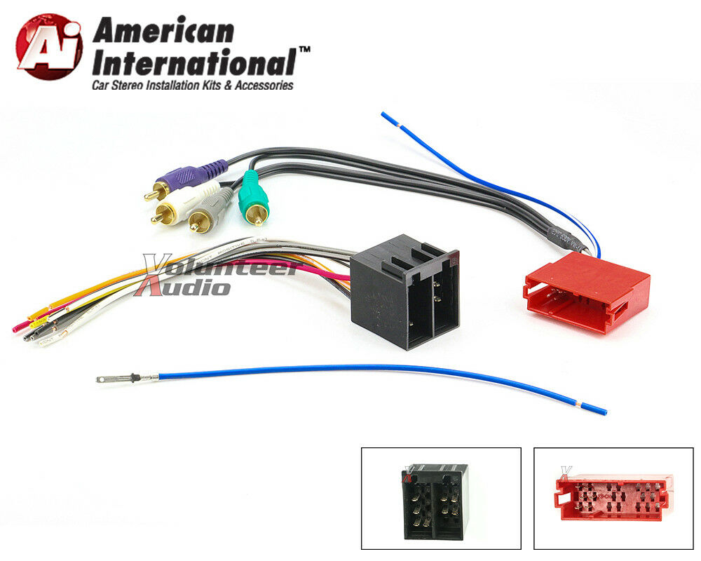 aftermarket car stereo wiring harness
