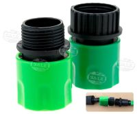 2x Garden Tap Spray Stretch Quick Connect Fitting Hose ...