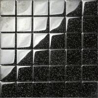 Black Glitter Glass Mosaic Wall Tiles Bathroom Shower ...