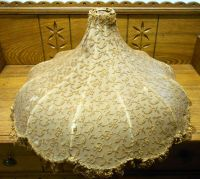 Antique Lace Material Lamp Shade - Some Tears | eBay