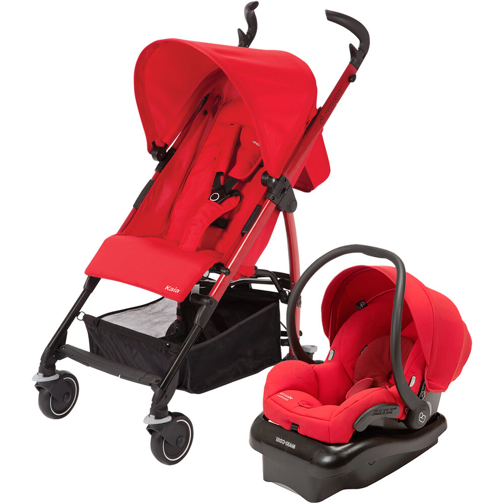 Infant Baby Trend Car Seat Maxi Cosi Kaia Stroller In Intense Red Maxi Cosi Car