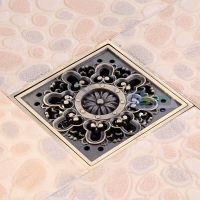 Euro Carved Square Bathroom Shower Drain Floor Waste Drain ...