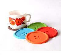 FUNKY COLOURFUL BUTTON COFFEE TEA DRINKS CUP COASTER TABLE ...