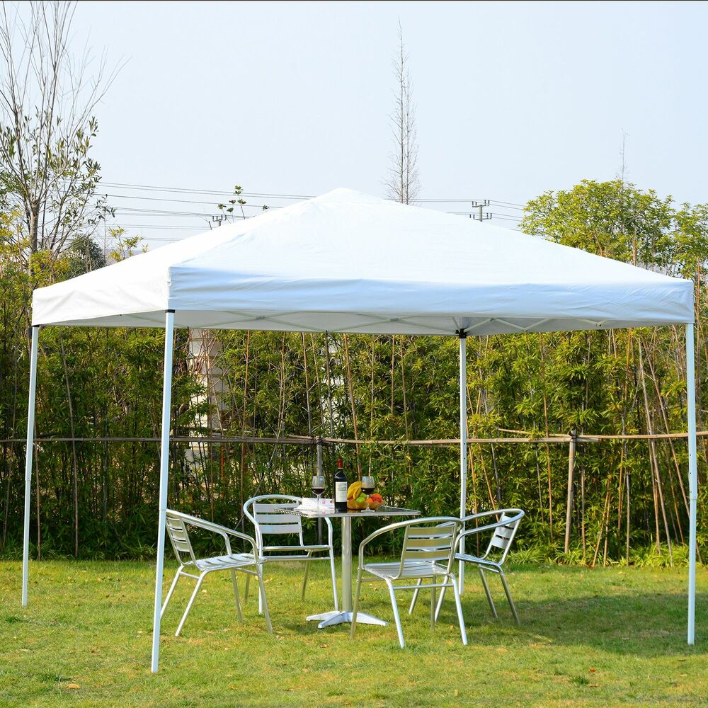 Outsunny 10x10ft Outdoor Patio Pop Up Party Tent Canopy