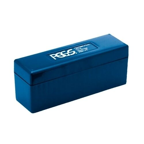 Pcgs Blue Plastic Coin Storage Box To Hold 20 Pcgs Slabbed