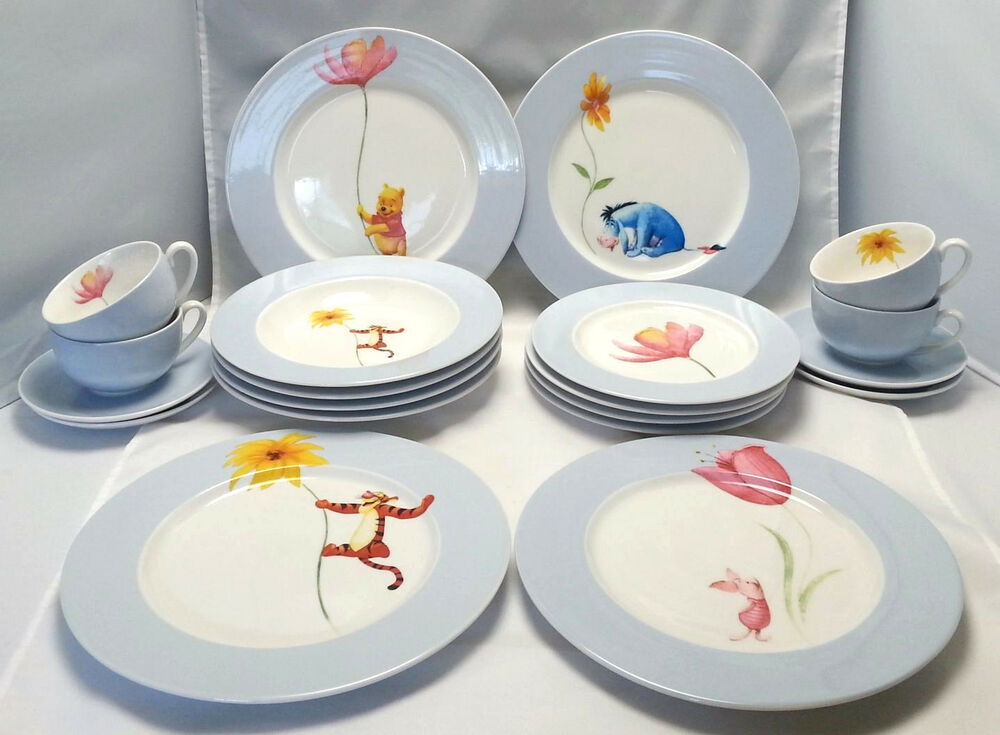 Winnie The Pooh Dinnerware Disney China 4 Complete Place