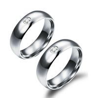 His and Her Promise Rings Wedding Band Rings Crystal ...