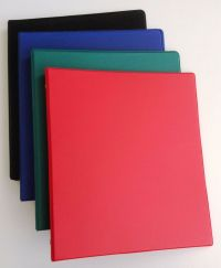 Assorted Colors of Vinyl 3-Ring Binders, 1/2-Inch, for 8.5 ...