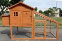 "New 75"" Large Wood Chicken Coop Backyard Hen House 2-4 ..."