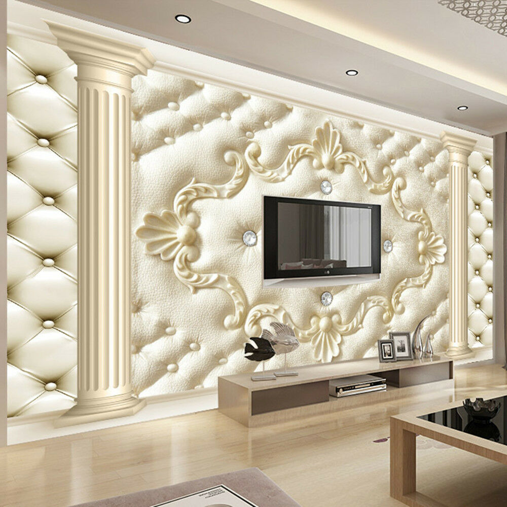 3d Wallpaper Bedroom Mural Roll Modern Luxury Embossed - 3d Wall