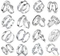 His & Hers Crown Silver Love Couple Promise Wedding ...