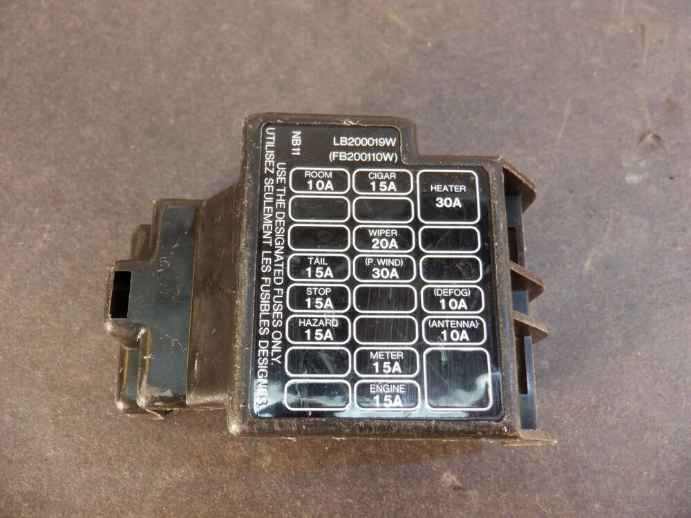 Miatamecca Used Fuse Box Lid Under Dash 94-97 Mazda Miata MX5 OEM eBay