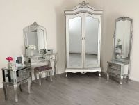 Mirrored Silver French Style Mirror Gold Shabby Chic ...
