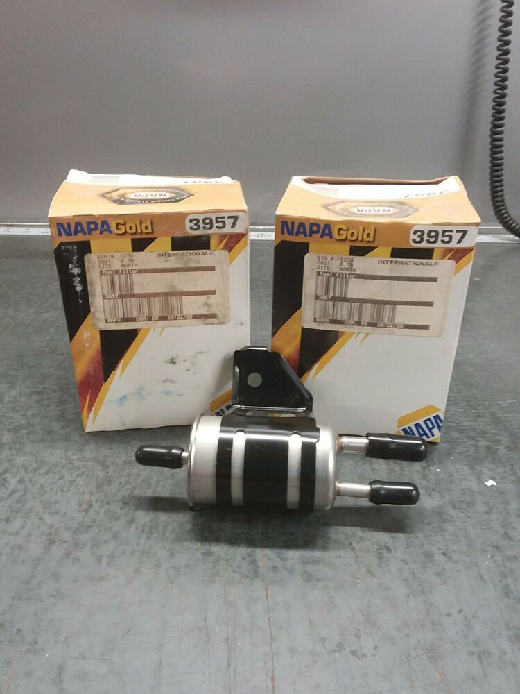 2/PACK of 3957 NAPA Gold Fuel Filter (33957 WIX) Fits Ford Taurus