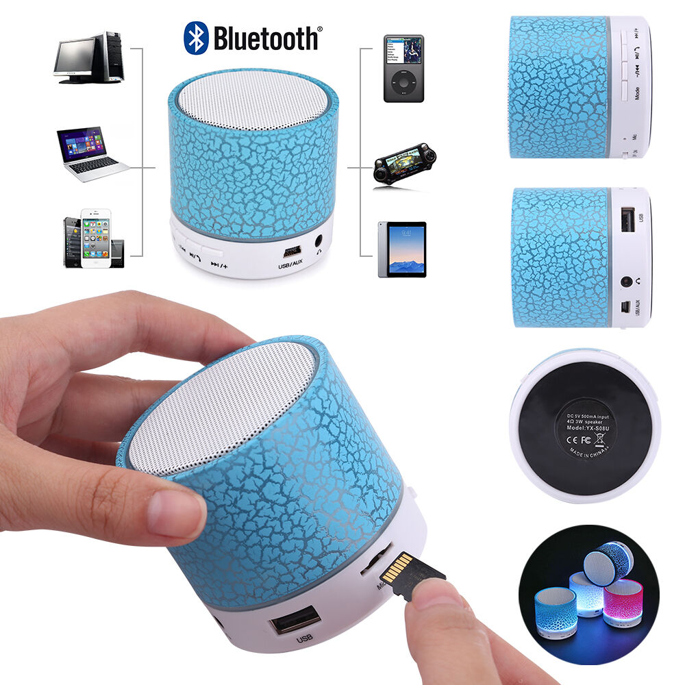 Bluetooth Boxen Für Handy Mini Bluetooth Lautsprecher Led Mp3 Fm Radio Musik Box Speaker