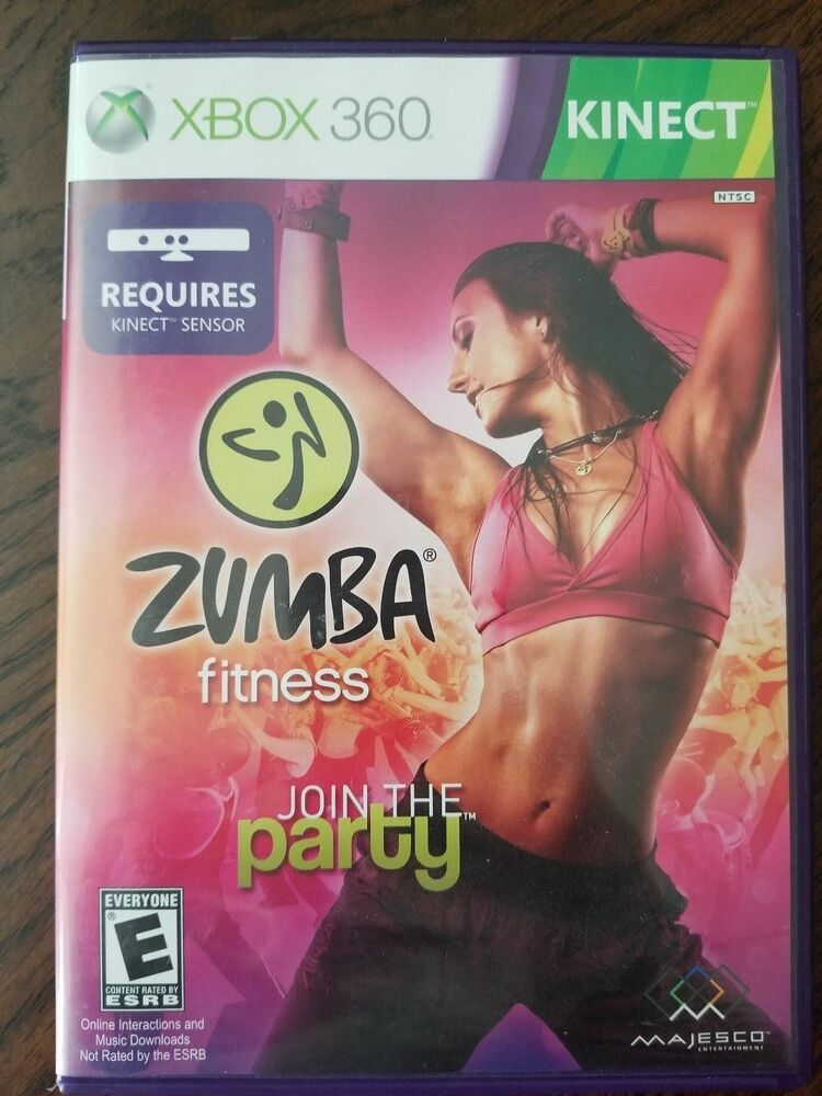 Zumba Fitness JOIN THE PARTY Microsoft Xbox 360 GAME DISC  CASE