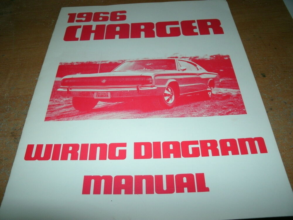 1966 Dodge Charger Wiring Diagram Manual eBay