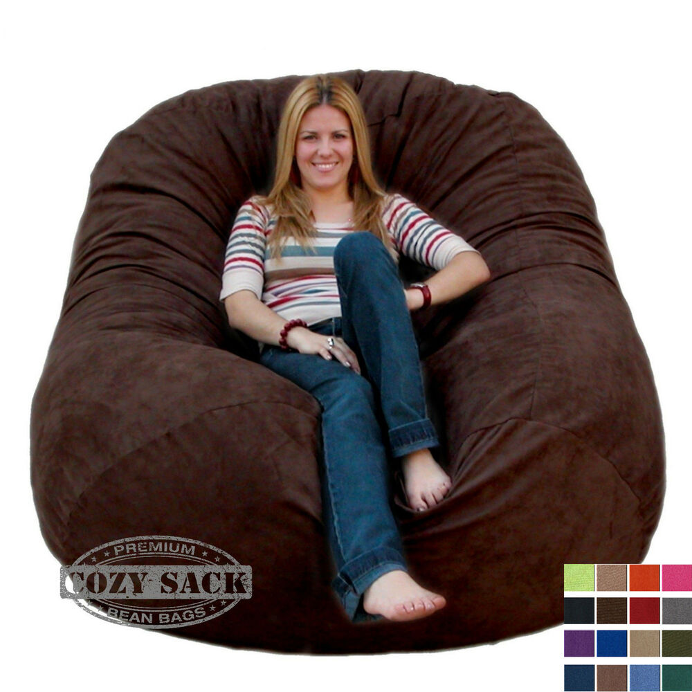 Sitzsack Riesig Bean Bag Chairs By Cozy Sack Premium Xl 6' Cozy Foam Chair