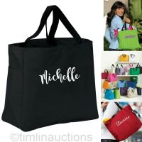 Personalized Bridesmaid Gift Tote Bags Bridal Shower ...