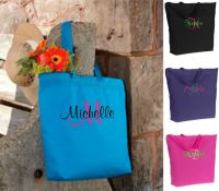 Personalized Monogrammed Beach Bags and Tote Bridesmaid ...