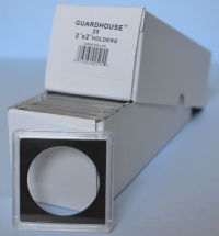 25 - 2x2 SILVER DOLLAR 38.1MM Guardhouse plastic snaplock ...