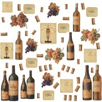 WINE BOTTLES 56 BiG Wall Stickers Dining Room Decor ...