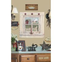 OUTHOUSE WINDOW & SIGNS Giant Wall Stickers Decals Country ...