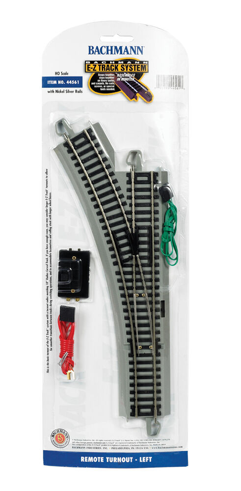 Bachmann HO Left-Hand Remote Switch EZ E-Z-Track Nickel-Silver